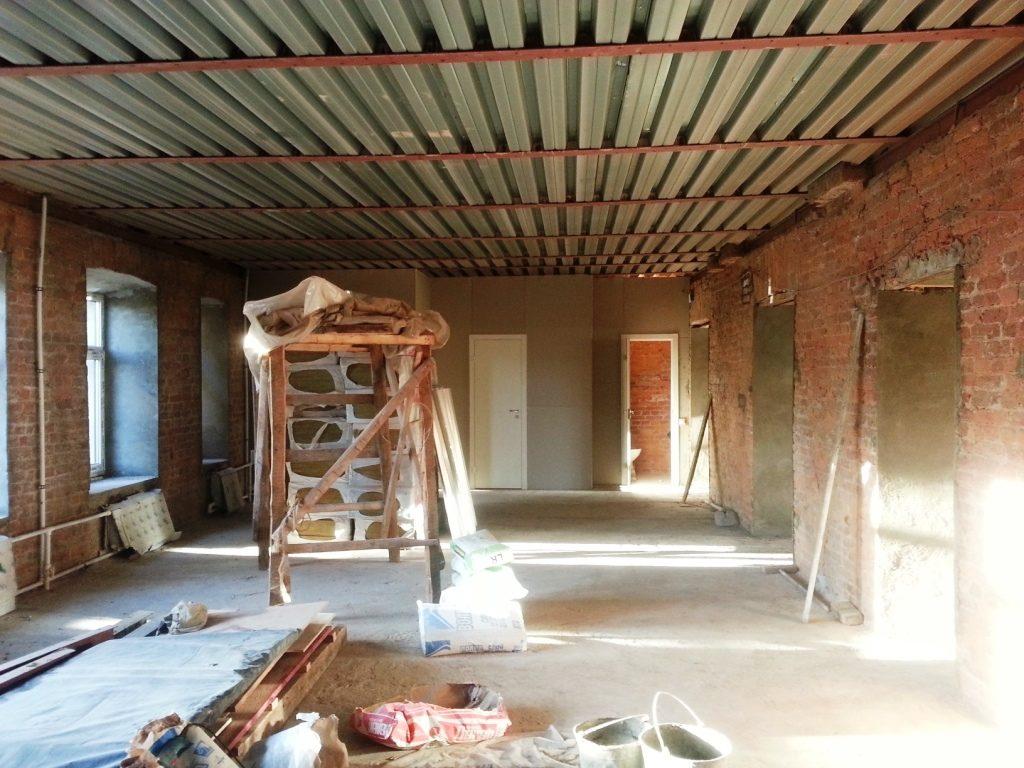 Перекрытия 4 этажа и чердака
